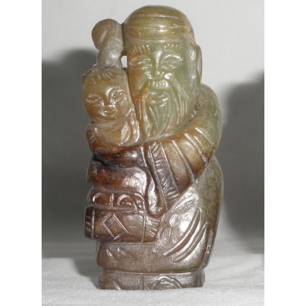 Rare Yuan or early Ming jade Shoulao figure